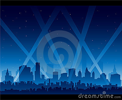 City nightlife movie premiere