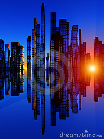 Free City Of The Soundwave 4 Royalty Free Stock Images - 2717209