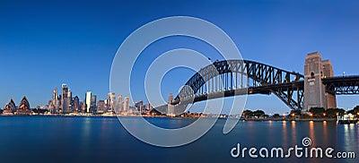 City Opera Bridge Sunrise Pan Editorial Stock Image