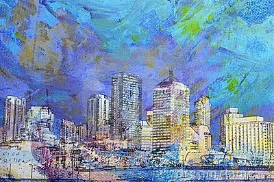 City paintings