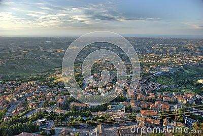 City panorama San Marino by Daylight