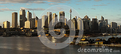 City panorama of Sydney Australia Editorial Photography