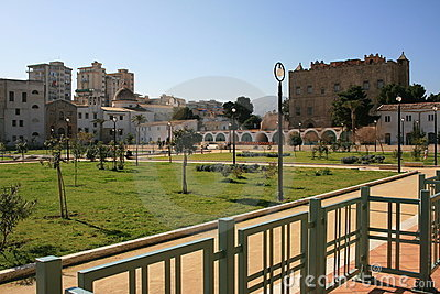 City park in La Zisa, Palermo