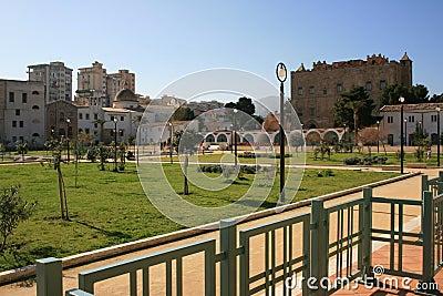 City park in La Zisa, Palermo