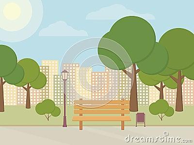 City park. Vector Illustration