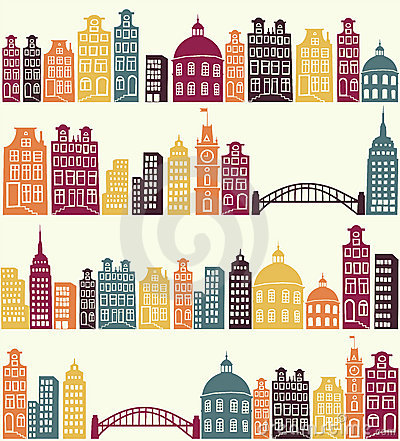 Free City Pattern Royalty Free Stock Photography - 22142787