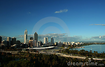 The City of Perth, Western Australia Editorial Stock Photo
