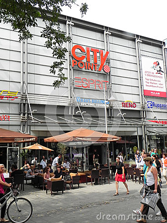 City Point market in Nuremberg, Germany Editorial Stock Photo