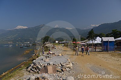 City of Pokhara, Nepal Editorial Photography
