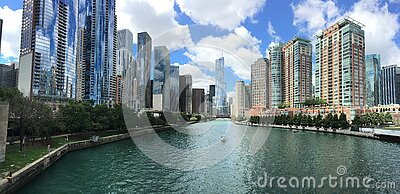 City With River In Middle During Cloudy Day Free Public Domain Cc0 Image
