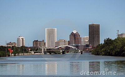 City of Rochester New York Skyline in Upstate NY