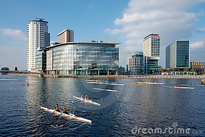 City Rowing Regatta, Manchester, England Editorial Stock Photo