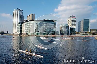 City Rowing Regatta, Manchester, England Editorial Stock Photo