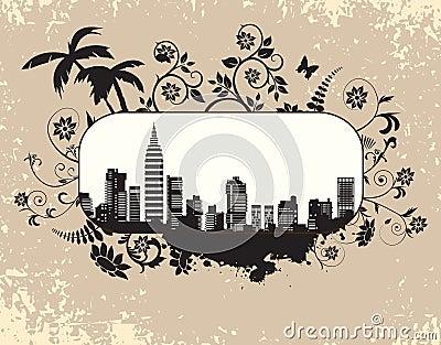 The city s skyline
