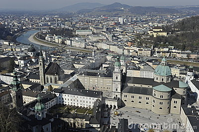 City of Salzburg Editorial Photo