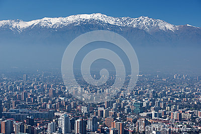 City of Santiago, capital of Chile.