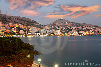 City of Saranda in Albania at