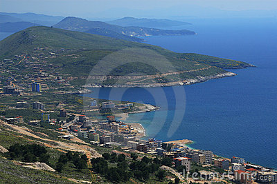 City of Saranda in Albania