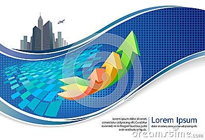 City-scape business growth brochure design