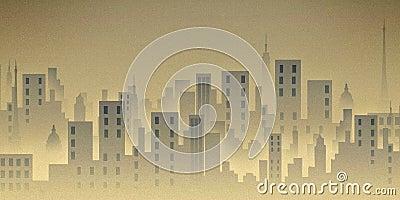 City scape, illustration, buildings