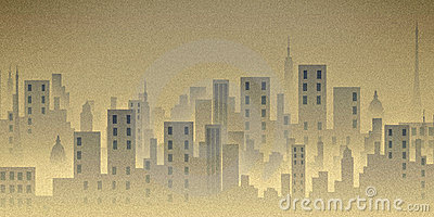 City scape, illustration, buildings