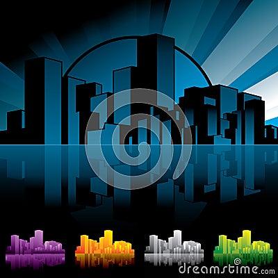 City scape Night