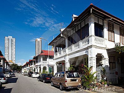 City scape of Penang (Malaysia).