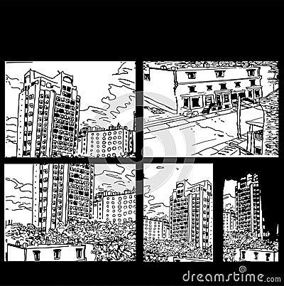 City Scenes Black and White