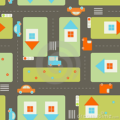 Free City Seamless Pattern Royalty Free Stock Images - 8143959
