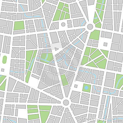 City Seamless Vector Wallpaper Stock Images Image 5056574