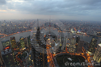 City of Shanghai Editorial Stock Photo