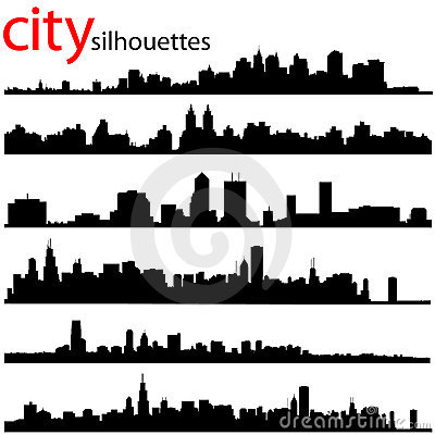 Free City Silhouettes Vector Royalty Free Stock Photography - 8047787