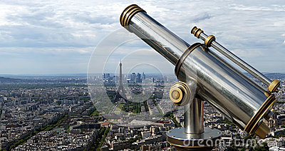 The city skyline at daytime. Paris, France
