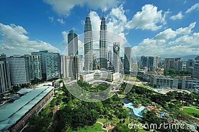 City skyline of Kuala Lumpur, Malaysia. Editorial Photo
