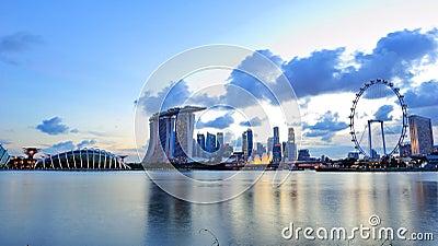 City skyline of Marina Bay Singapore