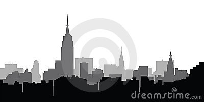 City skyline New York vector Editorial Stock Image