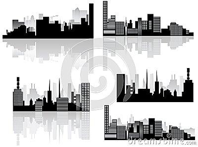 City skyline and shadow