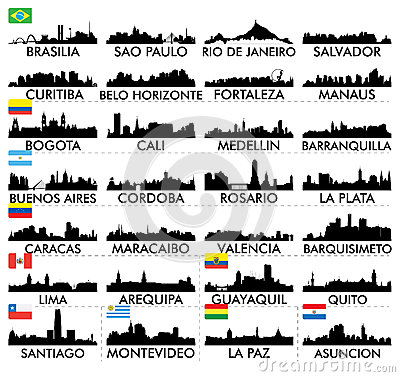 Free City Skyline South America Royalty Free Stock Images - 42996189