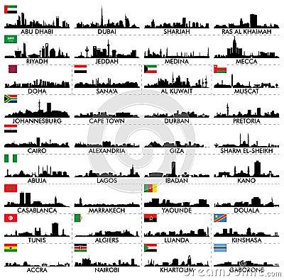 Free City Skyline The Arabian Peninsula And Africa Royalty Free Stock Photo - 59561805