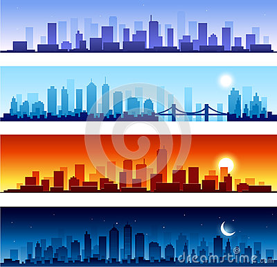 City skylines panoramic