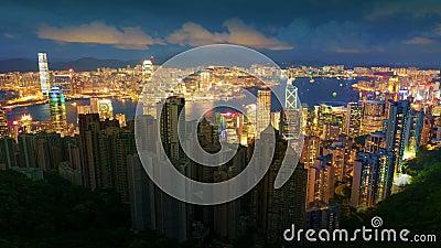 City Skyscrapers Blackout. HD timelapse