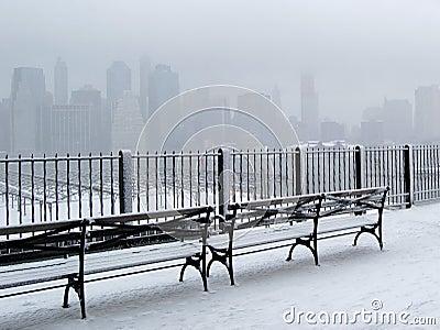 City in Snow
