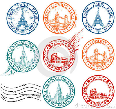 Free City Stamps Collection Stock Image - 19046471