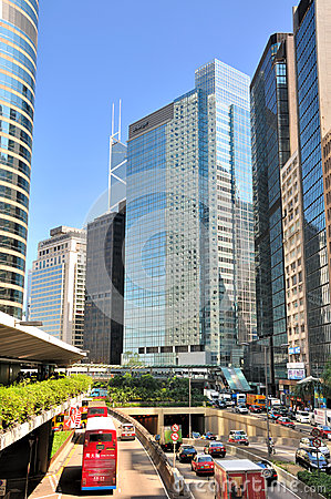 City street view of Hongkong city Editorial Image