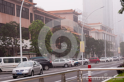 City street, Zhongshan China Editorial Photography