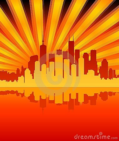 Free City/Sunburst Stock Photos - 516063
