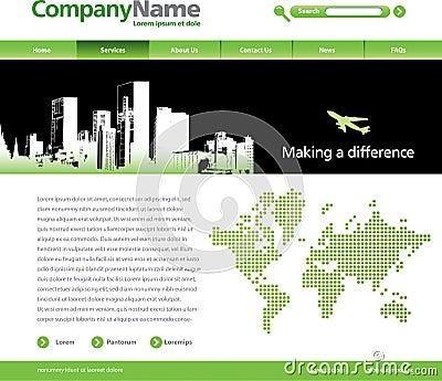 City template theme web