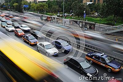City traffic Editorial Photo