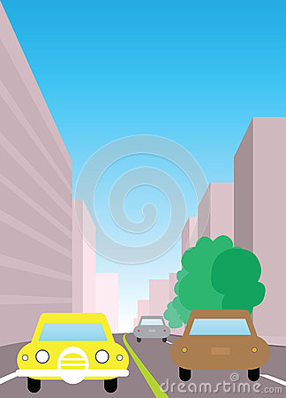 City traffic  illustration