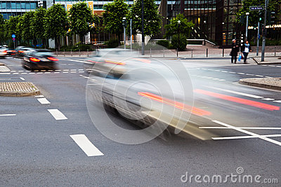 City traffic in motion blur
